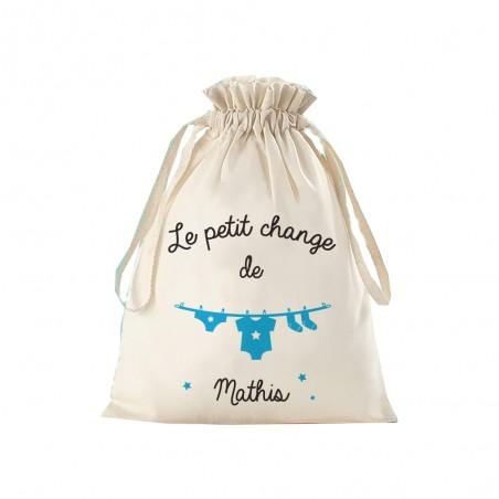 """Petit sac de rangement personnalisé - modèle """"le petit change"""""""