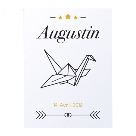 """Affiche enfant personnalisée - Modèle """"origami"""""""