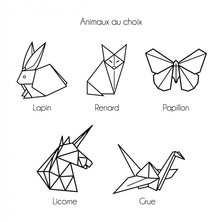 affiche-enfant-personnalisée-origami-prenom