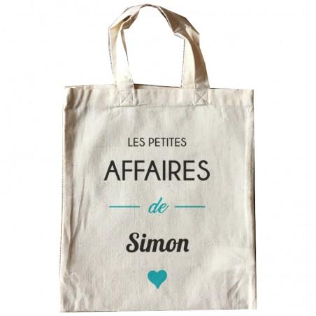 """Tote bag """"mini"""" personnalisé - Modèle """"les petites affaires de ..."""""""