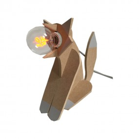 Lampe renard personnalisée