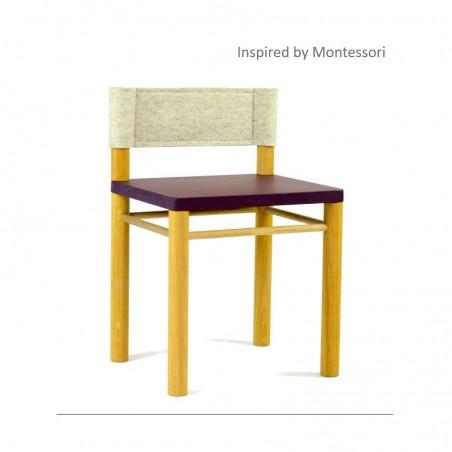 Chaise enfant inspirée Montessori - Modèle Clément