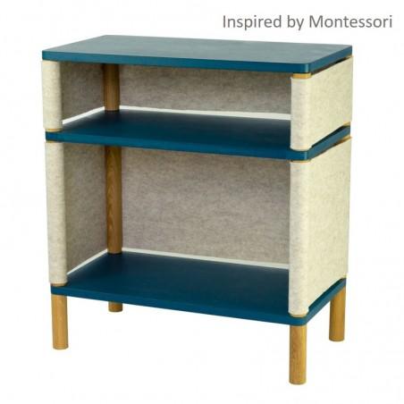 Etagère enfant inspirée Montessori - Modèle Kombi Victor/Téo