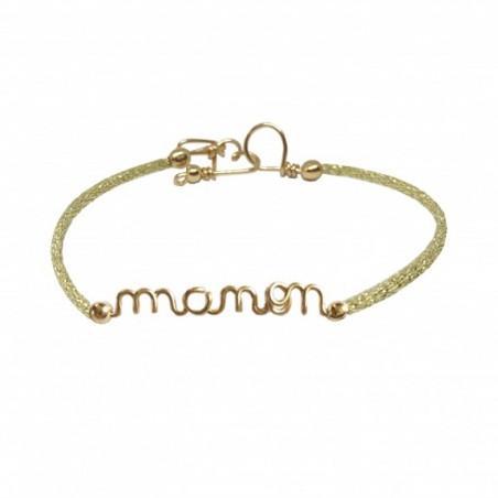 Bracelet personnalisé - Mot sur fil pailleté