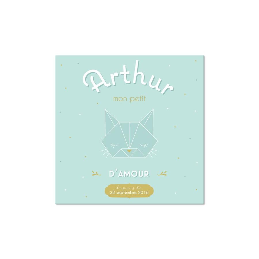 tableau-canvas-bebe-personnalise-menthe-pale-prenom-date-de-naissance-deco-chambre-bebe-personnalise-cadeau-de naissance-personn