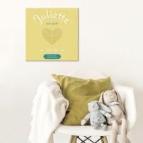 tableau-canvas-bebe-personnalise-jaune-prenom-date-de-naissance-deco-chambre-bebe-personnalise-cadeau-de naissance-fille-personn