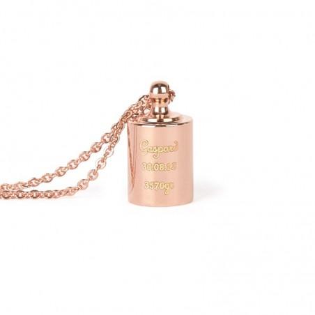 Collier personnalisé - Mon Petit Poids plaqué or rose