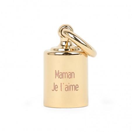 Charm personnalisé - Mon Petit Poids plaqué or jaune