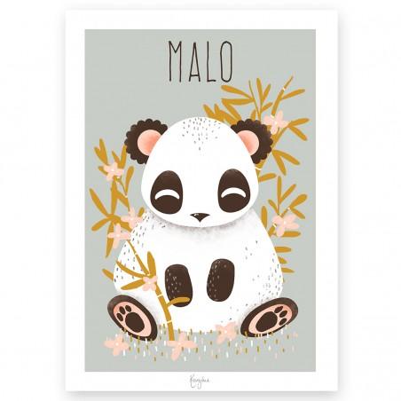 Affiche enfant personnalisé -  ANIMIGNONS PANDA