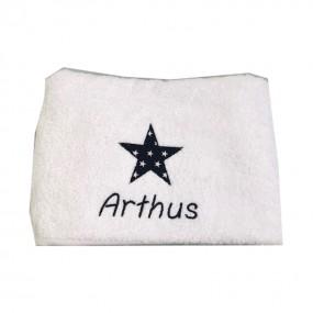 serviette-brodee-prenom-etoile-liberty-arthus
