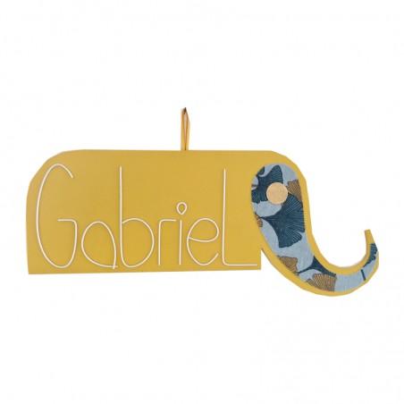Plaque de porte personnalisée - Modèle Eléphant