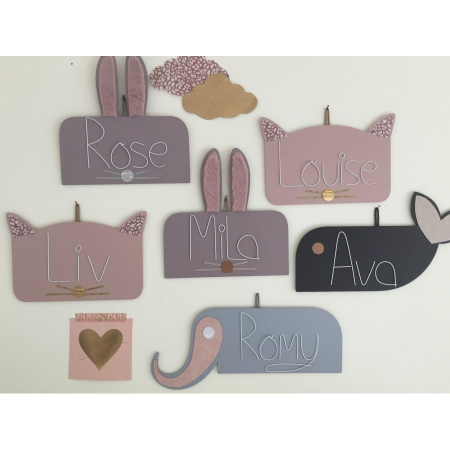 plaque-de-porte-bebe-prenom-personnalisé-animaux