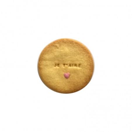 Biscuit personnalisé Saint Valentin - Modèle rond