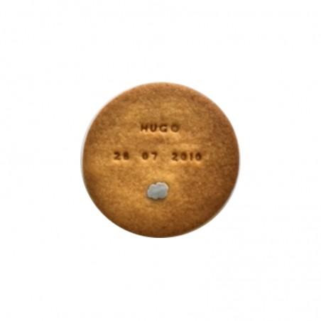 Biscuit personnalisé naissance - Modèle rond