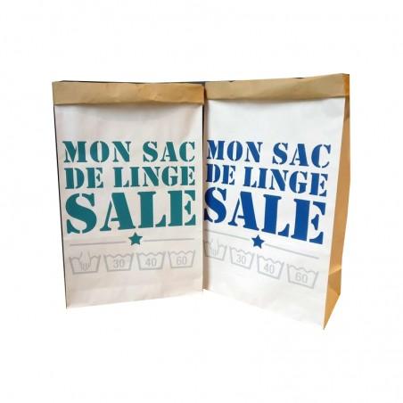 """Paper bag personnalisé - Modèle """"Mon sac de linge sale"""""""