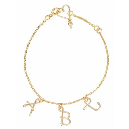 Bracelet personnalisé - Majuscule sur chaine
