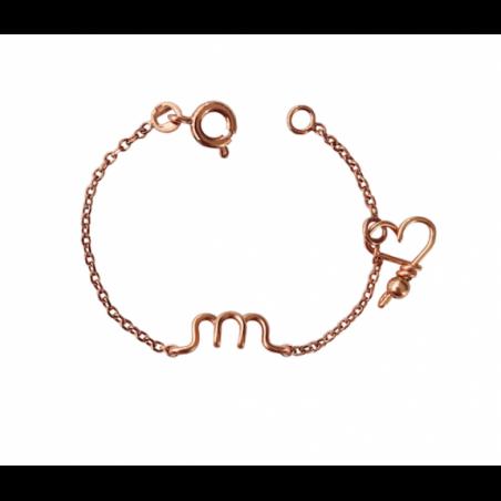 Bracelet personnalisé - Minuscule sur chaine kids