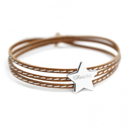 Bracelet personnalisé - Amazone Star Argent