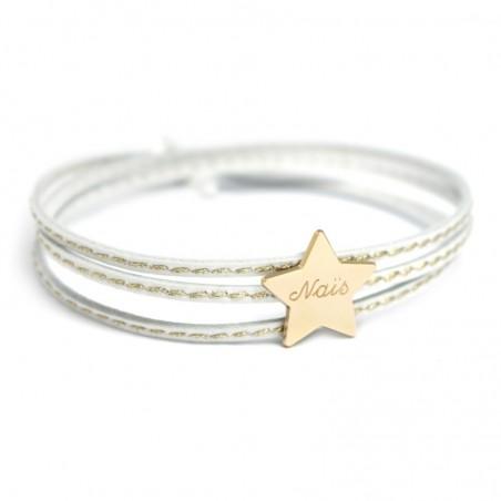 Bracelet personnalisé - Amazone Star Plaqué or