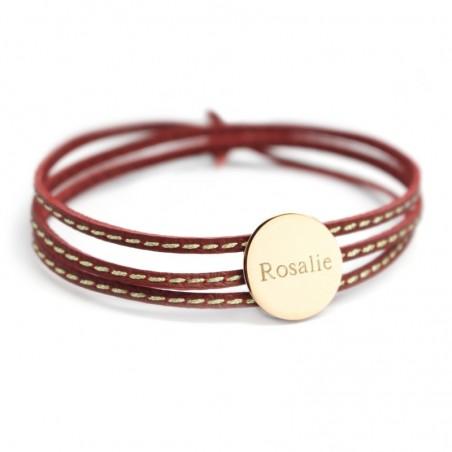 Bracelet personnalisé - Amazone Médaille Plaqué or