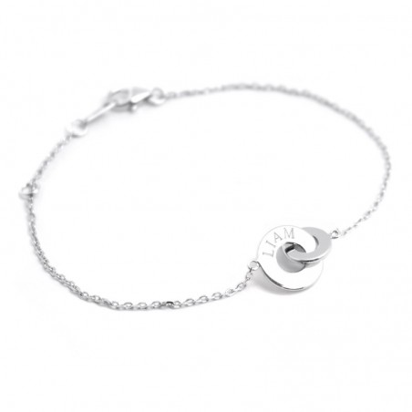 Bracelet personnalisé - Anneaux enlacés