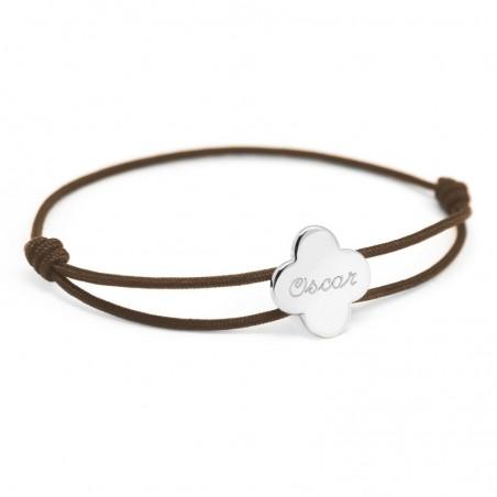 Bracelet personnalisé - Cordon Trèfle