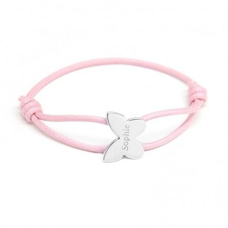 Bracelet personnalisé - Cordon Papillon