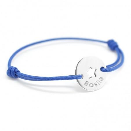 Bracelet personnalisé - Mini Jeton Star Argent