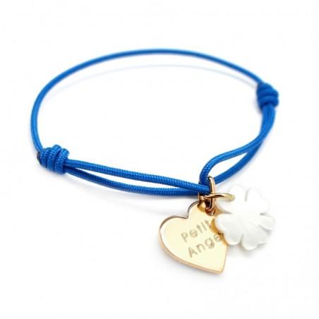 Bracelet personnalisé Enfant - Coeur de Trefle
