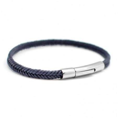 Bracelet personnalisé Homme - Le Tressé Bleu