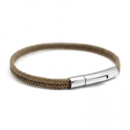 Bracelet personnalisé Homme - Le Tressé Kaki