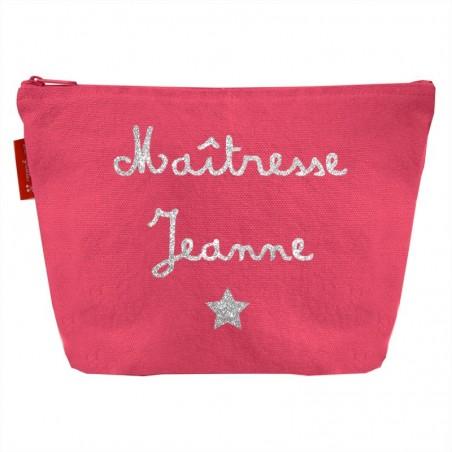Pochette personnalisée en Coton - Cadeau Maitresse - Nounou