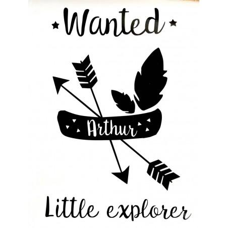 Stickers personnalisable - Little Explorer Flèches