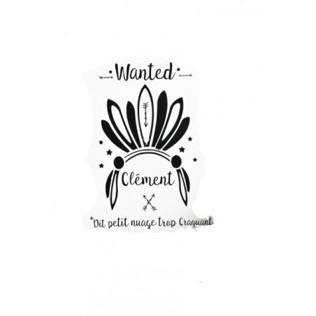 Stickers personnalisable - Wanted Coiffe Sioux