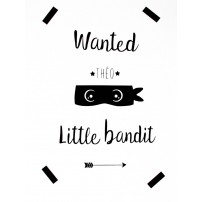 Stickers personnalisable - Wanted Little bandit