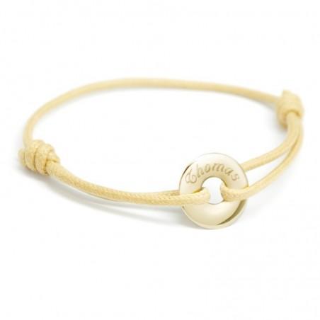 Bracelet personnalisé - Mini Jeton Or jaune