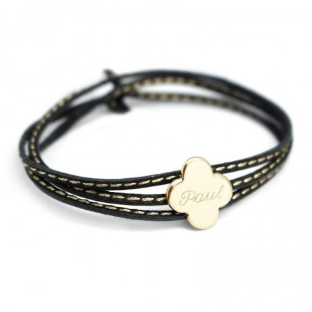 Bracelet personnalisé - Amazone Trèfle Argent