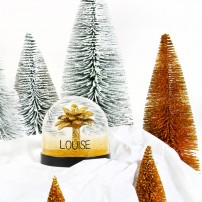 Boule à neige - Palmier doré