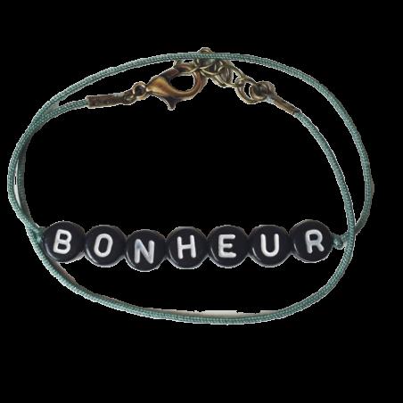 Bracelet perles-lettres personnalisé - Basic
