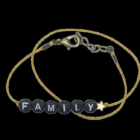 Bracelet perles-lettres personnalisé - Basic + 1 étoile