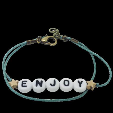 Bracelet perles-lettres personnalisé - Basic + 2 étoiles