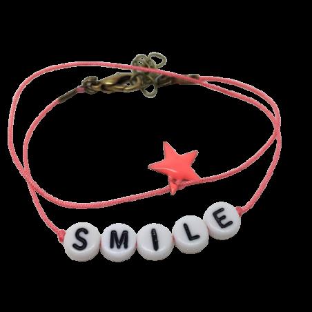 Bracelet perles-lettres personnalisé - Basic étoile émaillée