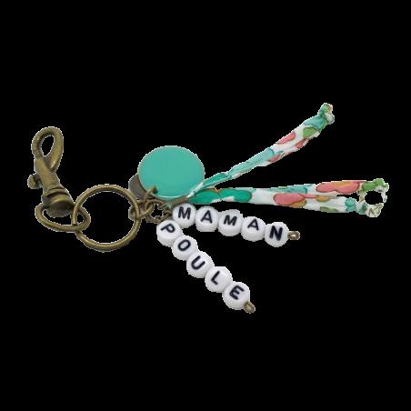 Porte-clé perles-lettres personnalisé - Perles et Liberty