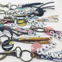 Porte-clé perles-lettres...