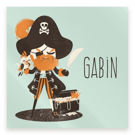 Plaque de porte personnalisée - Les Pirates