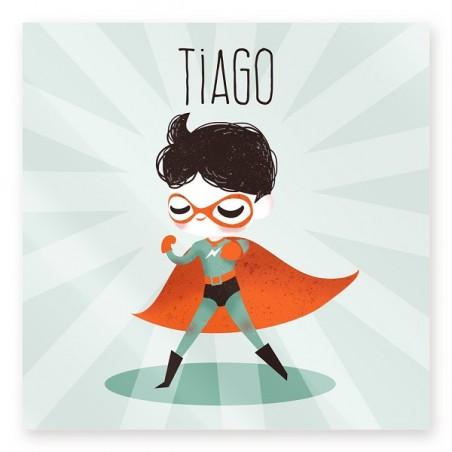 Plaque de porte personnalisée - Super héros !