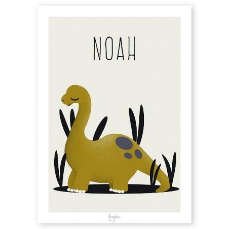 Affiche naissance personnalisée -  Les Dinosaures