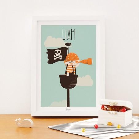 Affiche Enfant Personnalisée - Les Pirates