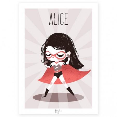 Affiche Enfant Personnalisée - Super Héros