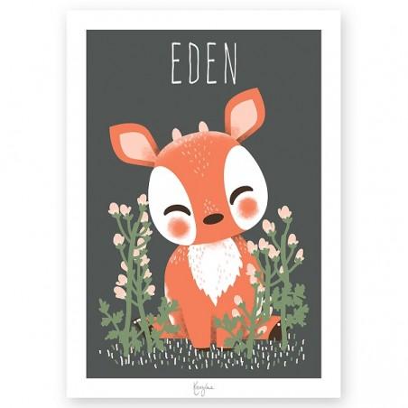 Affiche Enfant Personnalisée - Les Animignons de la forêt